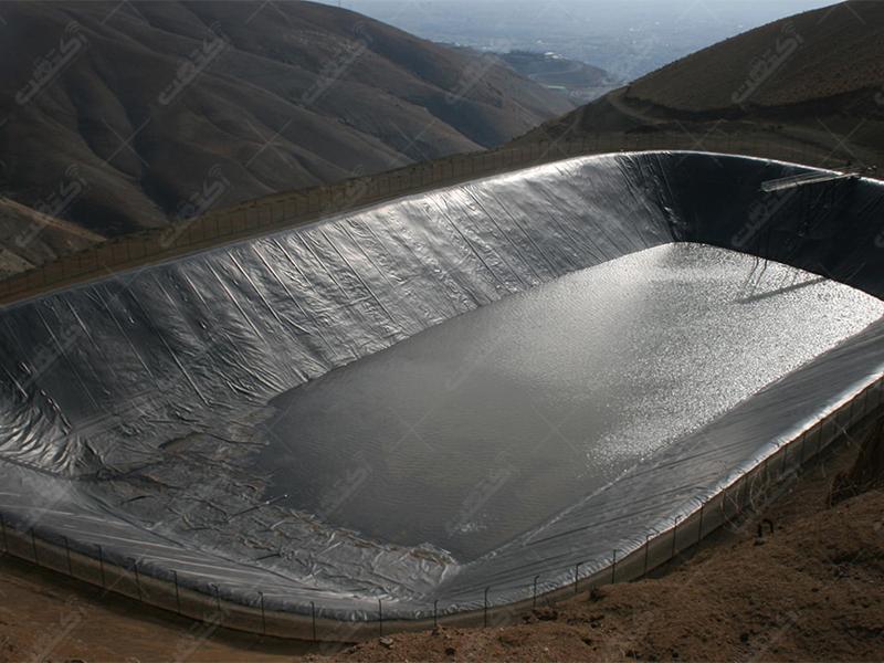 ساخت استخر ذخیره آب کشاورزی ژئوممبران