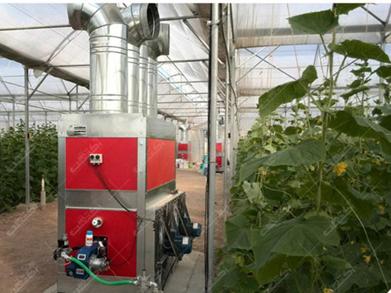 شرکت رویش تجهیز پارسه تولید کننده بخاری گلخانه و مرغداری