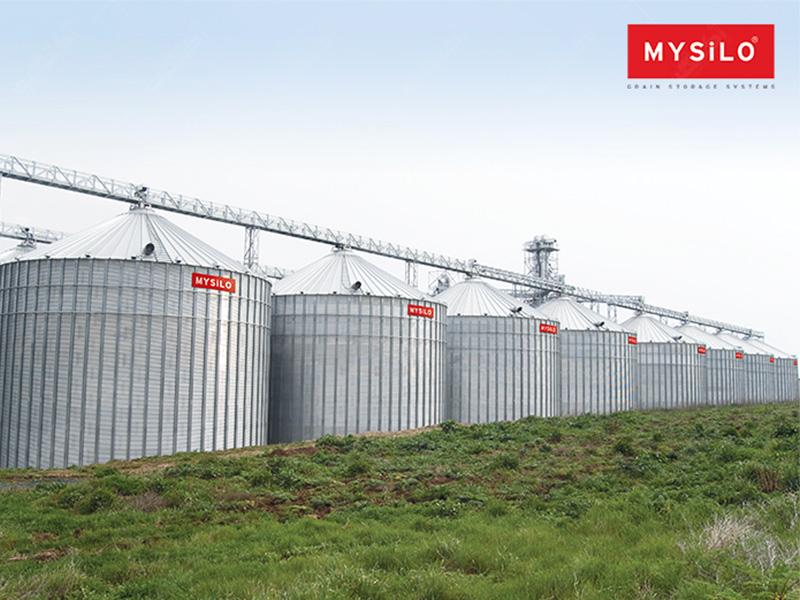 سیلوهای فلزی نگهداری غلات