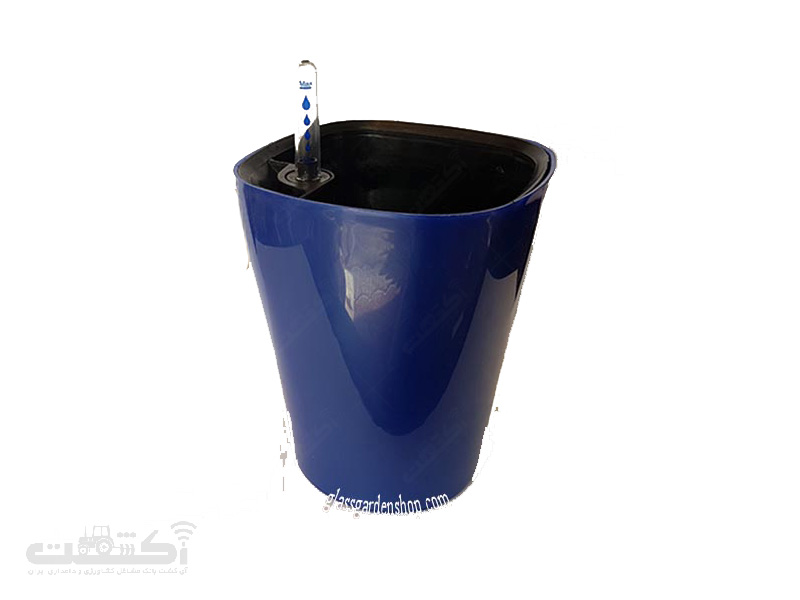 گلدان خودآبیار گلوین آبی تیره