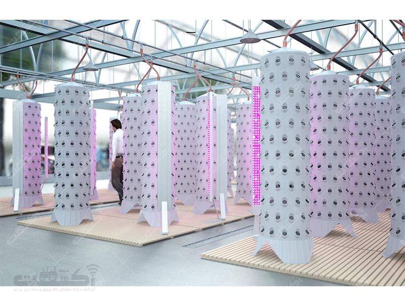 ستون های کاشت هیدروپونیک ایروپونیک گلخانه