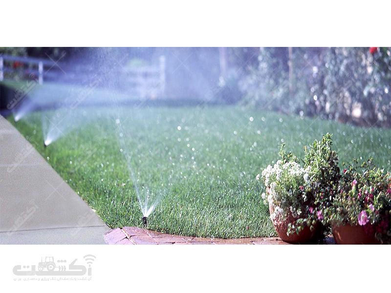 طراحی و اجرای سیستم آبیاری قطره ای و بارانی